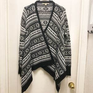 Carolyn Taylor Open Front Cardigan Sweater.